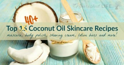 Top-41-Coconut-Oil-Skin-Recipes-mascara-body-polish-shaving-cream-lotion-bars-and-more-at-livingthenourishedlife